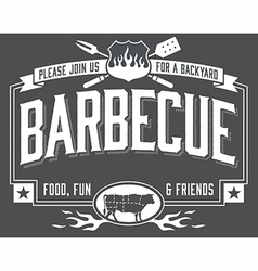 Backyard Barbecue Invitation vector image vector image