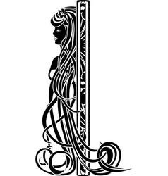 Decorative element in the art nouveau style vector image vector image