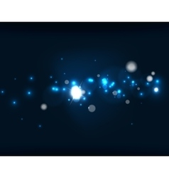 Glowing shiny bubbles and stars in dark space vector image