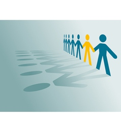 paper cut people vector image
