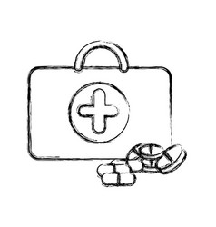 profile suitcase health with treatment icon vector image vector image