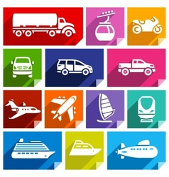 Transport flat icon bright color-07 vector image vector image