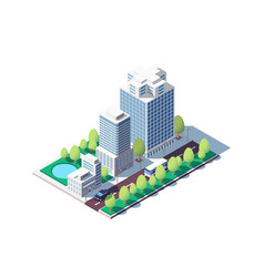 3d isometric square ground complex of vector image