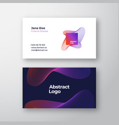 Abstract blend emblem sign or logo and vector