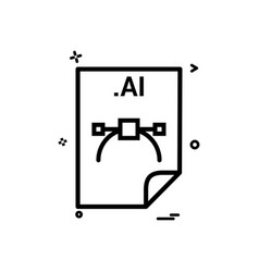 Ai application download file files format icon vector