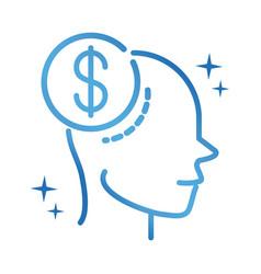Alzheimers disease neurological brain forget money vector