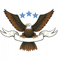 bald eagle insignia vector image