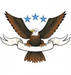Bald eagle insignia vector