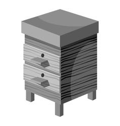 Beehive icon gray monochrome style vector