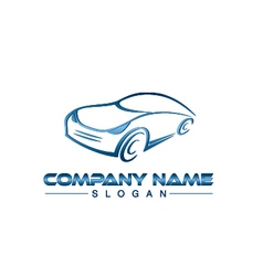Blue car logo vector