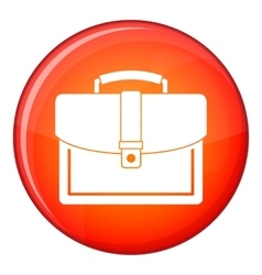 Business briefcase icon flat style vector