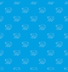 capuchin pattern seamless blue vector image