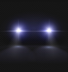 Car headlights headlamp glowing effect vector