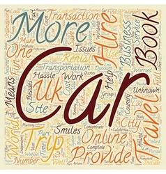 Car Hire UK Cheap Car Hire UK Car Hire Group text vector image
