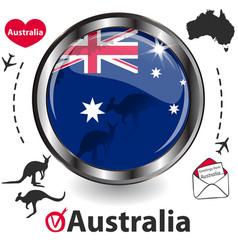 Card with australia vector