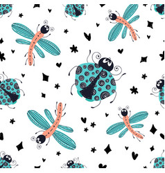 cartoon bugs vector image