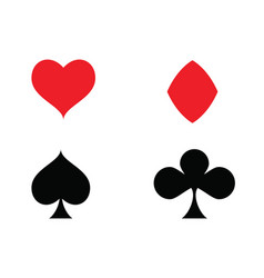 casino card icon template vector image