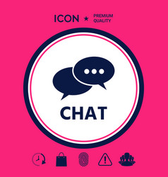 chat button icon vector image
