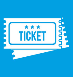 Circus show tickets icon white vector