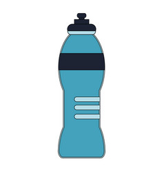 Color image cartoon sports bottle for liquids vector