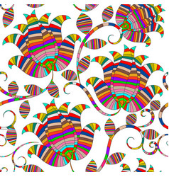 colorful striped ornamental paisley seamless vector image