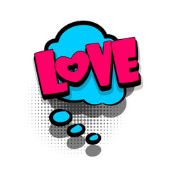 comic book text bubble advertising love vector image