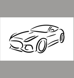concept of car icon vector image