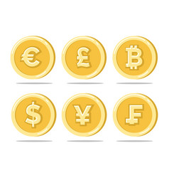 Currency gold coins vector