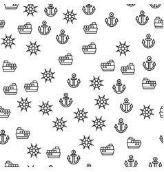 details delivery ship seamless pattern vector image