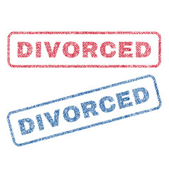 Divorced textile stamps vector