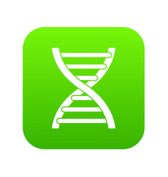 dna icon digital green vector image