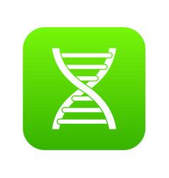 dna icon digital green vector image