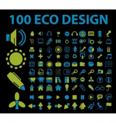eco signs 100 vector image vector image