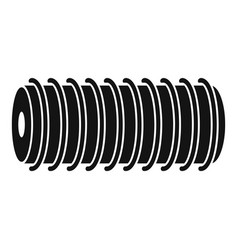 Electric spring coil icon simple style vector