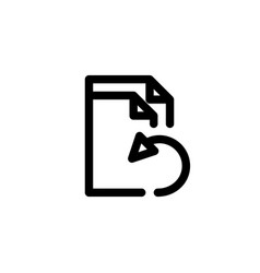 file recovery icon with line style vector image