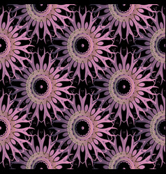 floral elegance seamless pattern beautiful tiled vector image