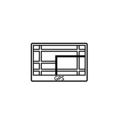 gps navigation line icon car element navigator vector image