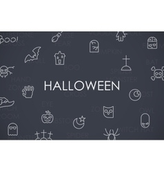Halloween Thin Line Icons vector image