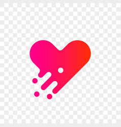 heart logo modern abstract icon vector image