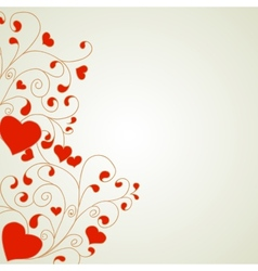 Heart with swirls and hearts ornament a light vector image