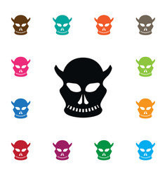 isolated skull icon cranium element can be vector image