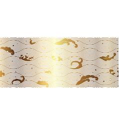 japanese wave golden background vector image