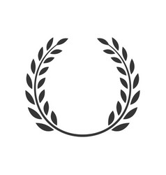 laurel wreath award branch victory icon vector image