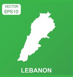 lebanon map icon business concept lebanon vector image