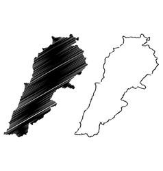 Lebanon map vector