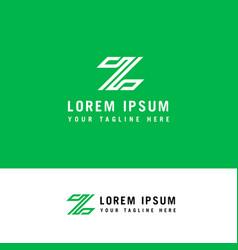letter z line logo design element with minimalist vector image