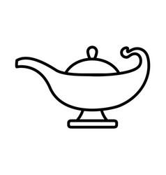 Magic lamp icon line style vector