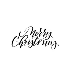merry christmas modern calligraphy design vector image