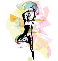 Modern ballet dancer man vector