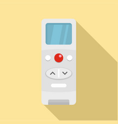 Modern remote control conditioner icon flat style vector